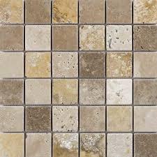 mixed travertine mosaic tumbled wall tiles marshalls