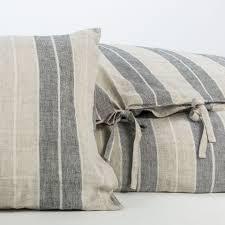 anichini valdas linen stripe sheeting relaxed washed linen
