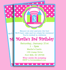 castle bounce house invitation printable or printed with free