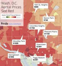 Trulia Heat Map D C U0027s Most And Least Expensive Neighborhoods For Renters