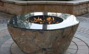 Granite Fire Pit by Pear Granite Fire Pit Boulder