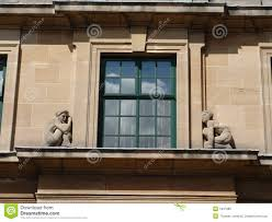Art Deco Balcony by Stone Figures On Art Deco Window Royalty Free Stock Images Image