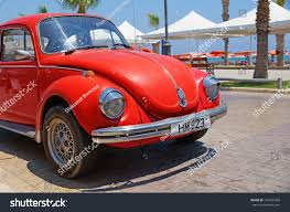 volkswagen beetle red larnaca cyprus jul 15 vintage red stock photo 147065588 shutterstock