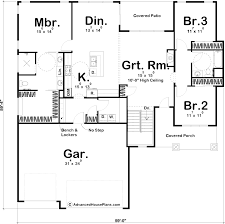 House Plans 1 Story 1 Story Bungalow Style House Plan Ridgeway