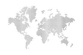 Simple World Map Simple World Map Black And White Grey Isolated On Background With