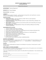Mailroom Clerk Job Description Resume Resume Billing Clerk Job Description Sidemcicek Com