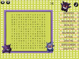 special pokemon word search top coloring books 8814 unknown