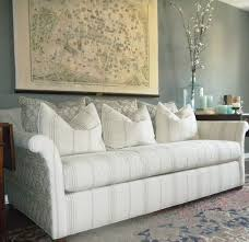 furniture white upholstered long and extra deep sofa using