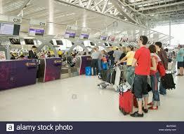 passengers at the check in desk suvarnabhumi airport bangkok