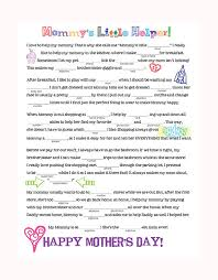 mothers day stuff s day mad libs family spice