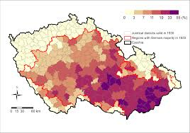 Czechoslovakia Map Measuring Phantom Borders The Case Of Czech Czechoslovakian
