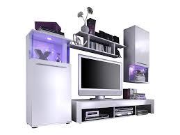 Wohnzimmerschrank Beleuchtung Trendteam Pu Wohnwand Wohnzimmerschrank Anbauwand Weiß Glanz
