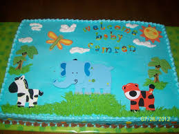 jungle theme baby shower cake cakecentral com