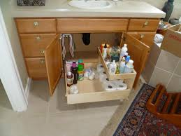 magnetic under the bathroom cabinet storage with stainless steel