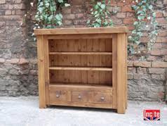 custom handmade rustic chunky plank pine bookcases