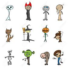 halloween cartoon drawings children u0027s drawings for halloween vector illustration royalty
