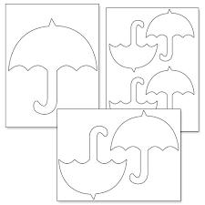 printable umbrella template printable treats parasolki