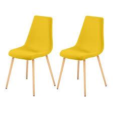 chaises jaunes chaise aleksi jaune lot de 2 testez nos chaises aleksi jaunes