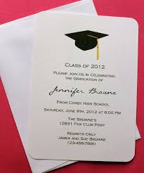 graduation invitation card sle vertabox