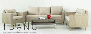 Modern Wicker Furniture by Vietnam Modern Wicker Patio Conversation Set