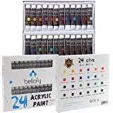 amazon com 24 color watercolor paint set 24 x 12 ml 0 4 oz