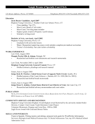 Law Clerk Resume Sample by Confortable Judicial Clerk Resume Sample In Court Clerk Resume