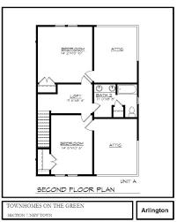 second floor plans arlington second floor plan twiddy realty