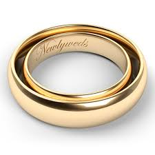 timeless wedding bands etched in gold ten ideas for engraving men s and women s wedding