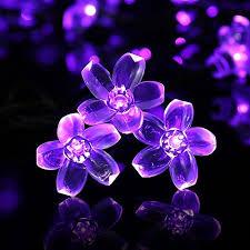 solar christmas lights luckled flower solar christmas lights 21ft 50 led fairy blossom