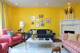 committing to color a playful but elegant high low living room