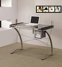Glass Office Desk Office Glass Office Desk Ideas Using Transparent Corner Computer