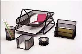 Desk Accessories Sets D8412 Walnut U0026 Leather 8 Piece Desk Set Regarding Popular
