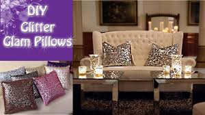 Glitter Home Decor Diy Glitter Glam Pillows Soooooo Pretty Youtube