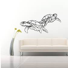 popular sea turtle decal buy cheap sea turtle decal lots from doubled sea turtles art wall stickers home bathroom special cool decor vinyl wall murals ocean style