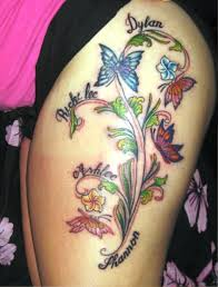 butterfly and flower thigh tattoos insigniatattoo com