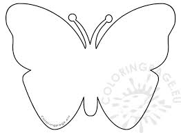 simple felt butterfly pattern coloring page