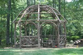 Rustic Outdoor Furniture by Luke Barrow Rustic Garden Structures Inc Pittsboro Nc