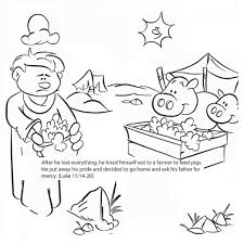 coloring page prodigal son coloring pages coloring page and