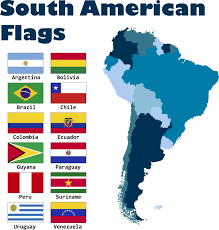 Flags Of Countries Mini South American Countries Flags