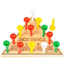 cracker barrel table game amazon com 1 x wooden triangle i q test solitaire peg game by