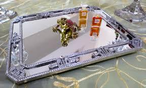 Vanity Fair Bra 75371 Round Crystal Vanity Tray Vanity Decoration