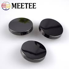 aliexpress buy new arrival 10pcs silver gold meetee 10pcs 12 25mm black gold silver metal button for suit