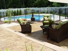 Patio Concrete Designs Exterior Patio Concrete Design With Modular Stamped Deck Plus