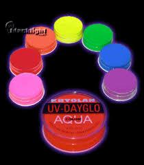 k5171 kryolan aquacolor fluorescent makeup body paint 35 oz