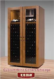 wine cabinets custom wine cellars chicago