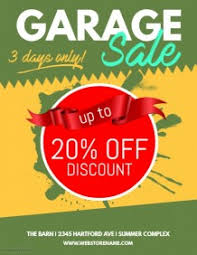 customizable design templates for garage sale flyer postermywall