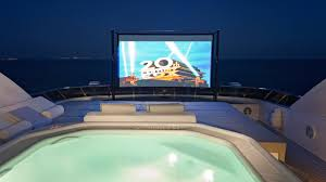 home movie theater screen the best outdoor cinemas on luxury yachts boat international