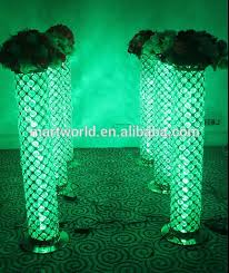 Pillars And Columns For Decorating 2017 New Gold Decorative Lighting Led Columns Crystal Pillars With