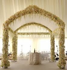 wedding arch no flowers ceremony arch with flowers and possibly hanging crystals but no