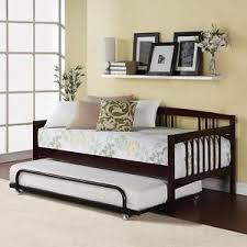 espresso twin bed twin bed daybed espresso wood frame kids bedroom guest bed trundle